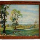 Vintage Antique Cracker Old Northern Florida DeLisle Oil Painting Landscape