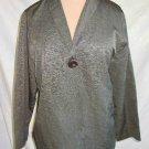Eileen Fisher NOS Deadstock Metallic Gray Silk Jacket Blazer Floaty Flyaway   M