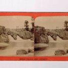 Stereoview P Lasseson Dakota Sioux Falls Double Rocky Waterfall River