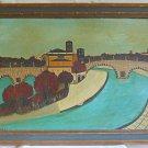 Paris Vintage Modernist Cubist Original Painting Ruggeri St Germain des Pres