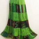 Vintage Elizabethan Jacket Penny Green Couture Patchwork ARTY Maxi Skirt NOS