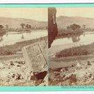 Stereoview Savage Utah UPRR Green River, (Rail Road) Grade in Distance