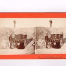 Stereoview Taylor 6705 Powder Magazine on the Lines Fortified Bunker Soldiers