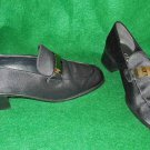 Slippers Stuart Weitzman Le Smoking Tuxedo Loafer Moccasin Buckle Flats Pumps 7