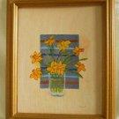 Still Life Flowers Sara H Holmberg Original Painting Daffodil by Window Framed