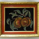 Antique Theorem Oil Painting Peaches Still Life L P Veevers Nashville Tenn 1947