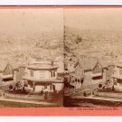 Stereoview San Francisco Houseworth 376 Panorama of City Bay from Rincon Hill