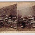 Stereoview W G Chamberlain # 306 Idaho Springs Colorado Darrag Mine City View