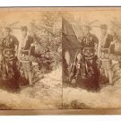 Stereoview T W Ingersoll #3206 Unpa-Wastewin Chiefe Son Indians Tipi Jewlery