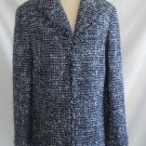 Real Clothes Saks Fifth Avenue Trophy Jacket Coat Boucle Tweed Fringe NOS SFA 12