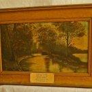 ANTIQUE Oil Painting Nora Dopp Impressionist Landscape Georgia Bridge Southern