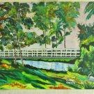 Bridge Bulow Old Florida Plantation Landscape Stork Painting Oil Claire Grebin