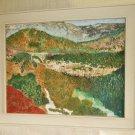 Western Laramie Wyoming Dale Creek Canyon Railroad Bridge Flancher Oil Painting