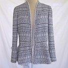 REBECCA TAYLOR Deadstock Tweed Trophy Jacket Blazer Peplum Chain Detail 12 NOS
