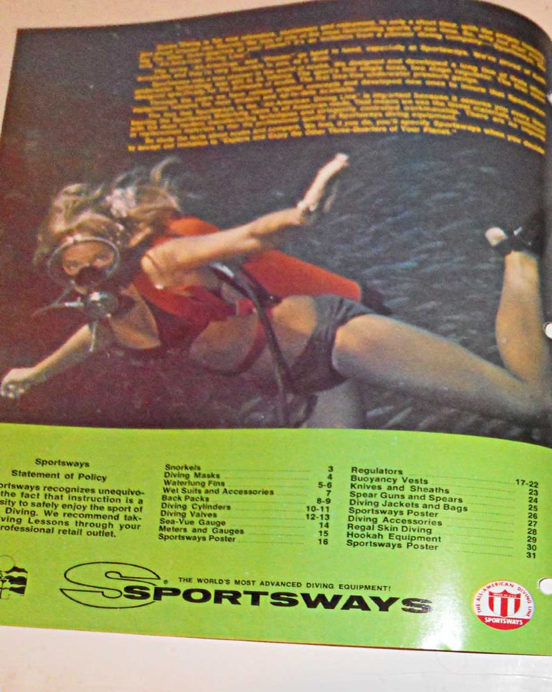 Vintage Sportsways Catalog 1972 Dealer Retail Price Sexy Bikini Girls Equipment