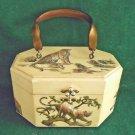 Vintage 50s Box Bag Leopard Cats Cub Jungle Handbag Purse 3D Artist Signed Welda