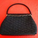 Beaded Heavy Vintage 50s Bag Evening Structured Frame Top Handle NOS Sea Shell