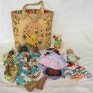 Voodoo Dolls Black Collection 6 Vintage Cloth Folk Art Figural Bahamas Bag
