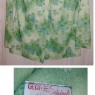 Vintage 70s Georgee Originals Floral Print Shirt Blouse Tunic Long Poited Collar