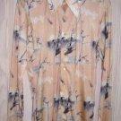 Nino Mori Disco Shirt Swamp Birds NOS Vintage 70s Slinky Fluid Ornithology Pale