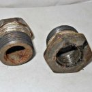 Vintage Pair 2 Scuba Tank Valve Bushing 1/2 Half inch Tapered Bushing Early