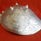 "Vintage Arthur Court Aluminum 1977 Shell Koi Fish Carnelian Eyes Salad Bowl 12"""
