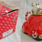 Vintage Fitz Floyd NOS New Old Stock in Box Santa in Car Teapot Deadstock