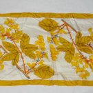 Skinny Scarf  Vera Modernist NOS Vintage 70s  Gold Orange Flower Leaf Foliage