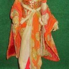 Japanese Geisha Red Large Costume Sakura Ningyo Doll Vintage 50s On Stand