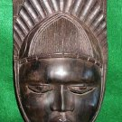Mask Female Ebony Wood Carving Fetish Vintage Beautiful Face Crown Vintage
