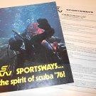 Vintage Sportsways SW Catalog Spirit of Scuba '76 Dealer Retail Price Regulator