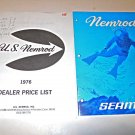 Vintage nemrod Seamco  1976 Dive Catalog Speargun Meteor Regulator Dealer Price