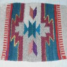 Southwestern GEOMETRIC WOOL RUG Chair Cover Vintage Textile Woven Hanging Decor