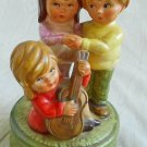 Music Box Japan Vintage Antique Pottery Children Guitar Musical