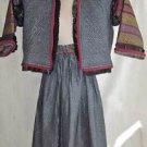 Steampunk Ensemble Vintage Elizabethan Jacket Penny Green Maxi Skirt Deadstock