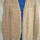 Sweater Vintage 60s Metallic Knit Cardigan Trophy Jacket Coat NOS JASMINE