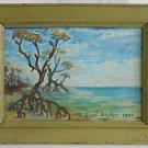 Florida Everglades Vintage Modernist Painting Mangrove 1968 Jester Plein Air