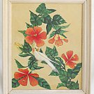 Cockatoo Vintage Painting Hibiscus Cockatiel Agatha 77 Flower 3D Ornithology