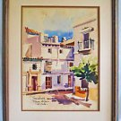 Vintage Painting Plaza Alfaro Sevilla Romantic Architectural Spain Jose Angel