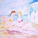 Vintage Petri Modernist Mid Century Sun Bathing Mediterranean Bikini Girls Italy