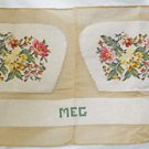 Chair Vintage Needlepoint Covers Unused Uncut Flowers Muted Botanical Baroque
