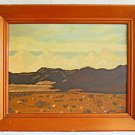 Folk Western Vntage Painting High Sierra California Desert Snow Mountain 1949
