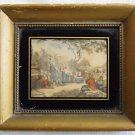 Antique August Harvest Time Engravure Bartolozzi Boston Gilded Frame Regency