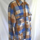 Jacket Chore Vintage 70s Regent Canada Plaid Hunting  Wool Shirt Deadstock L