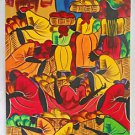 Vintage Black Women Folk Art Painting Jeff Jamaica WI West Indies ‎Antilles Hot