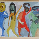 Nude Anique Painting Geometric Surfboard Head Dancers Vivian S Steinberg 1947