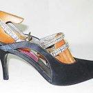 Christian LaCroix Vintage 80s Sandals Maryjanes Faux Diamonds Slingbacks 38