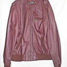 Vintage Members Only Brown Leather Jacket 70s Bomber Biker Distressed Racer XXT