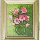 Painting Hollywood Regency Anemones Pink Vintage Flowers Still Life Gentila