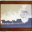 John Wayne Original Vintage Drawing Stagecoach  Monument Valley Western Cowboy